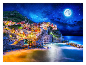 Starry Night of Cinque Terre, Italy 1200 pieces jigsaw puzzle Pintoo H2056