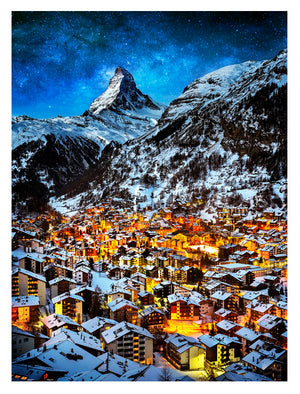 Pintoo H2066 Light of Zermatt, Switzerland 1200 pieces Jigsaw Puzzle