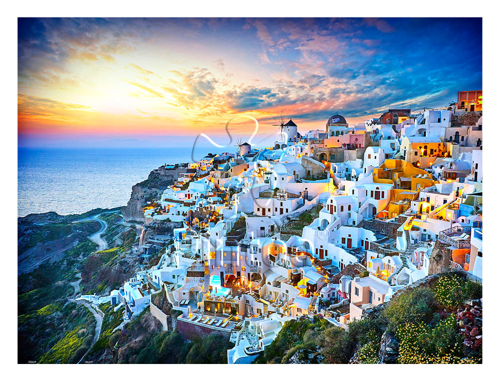 Pintoo H2073 Beautiful Sunset of Greece 1200 pieces Jigsaw Puzzle