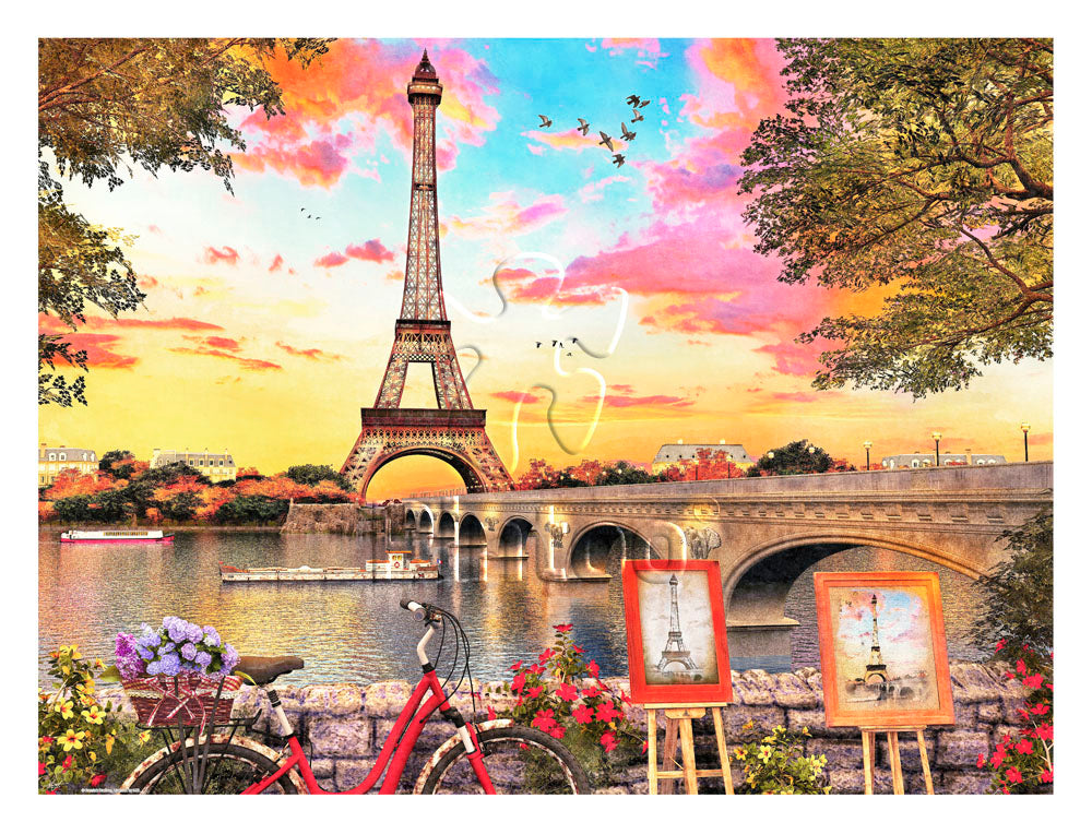 1200 pieces - Dominic Davison - Paris Sunset