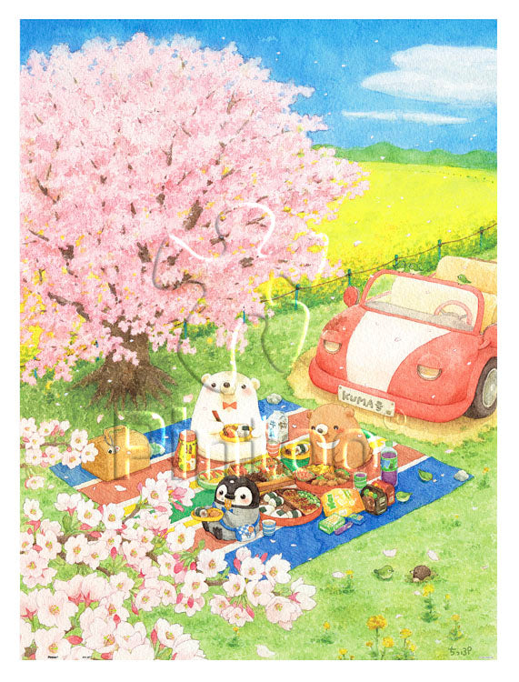 1200 pieces - ちっぷ - Cherry Blossom Picnic Day