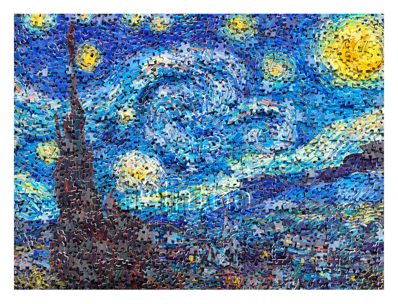 1200 pieces - Puzzle in Puzzle - Van Gogh's Starry Night