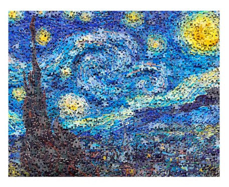 500 pieces - Puzzle in Puzzle - Van Gogh's Starry Night