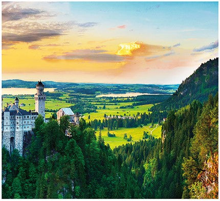 4000 pieces (Panorama) - Sunset of Neuschwanstein Castle, Germany