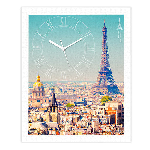 Showpiece Puzzle Clock - Paris with Love (500 pcs)