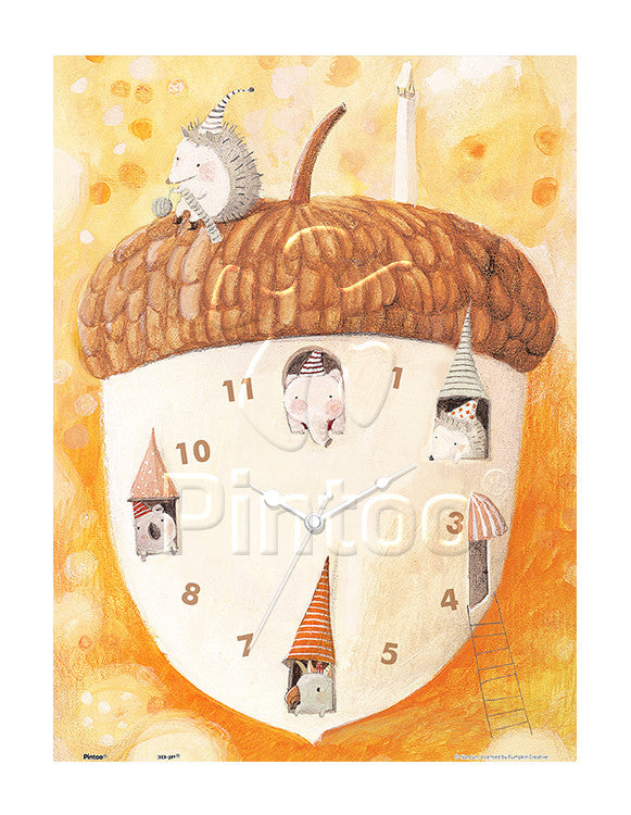 Showpiece Puzzle Clock - Acorn House (300 pcs)
