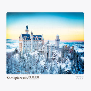 Double-sided Puzzle (80 pieces) - Neuschwanstein Castle