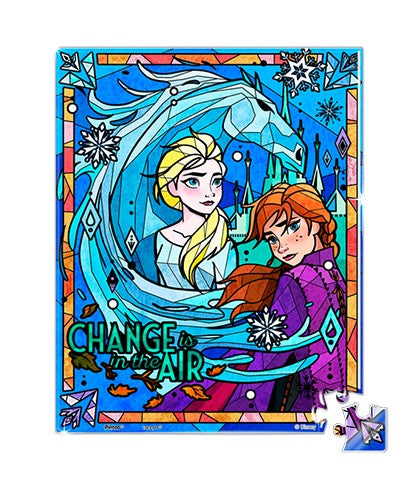 Showpiece Transparent Puzzle (80 pieces) - Frozen II - Embark On A Journey