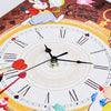 Puzzle Canvas Clock - Alice in Wonderland