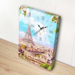 Puzzle Canvas Clock - Eiffel Tower