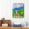Puzzle Canvas Clock - Wolfgangsee Lake