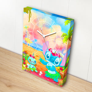 Puzzle Canvas Clock - Lilo & Stitch