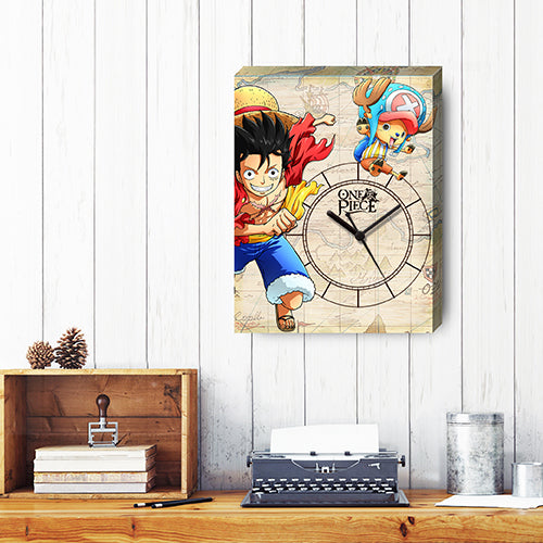 Puzzle Canvas Clock (366 pieces) -One Piece - Luffy and Chopper