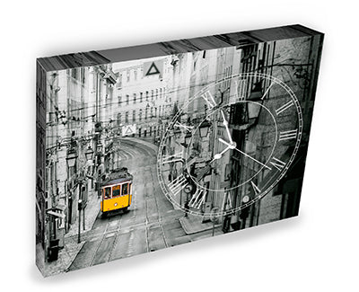 Puzzle Canvas Clock (366 pieces) - HK1018 - Early Morning of Lisbon