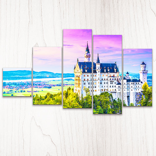 Puzzle Canvas Set (632 pieces) - Neuschwanstein Castle, Germany