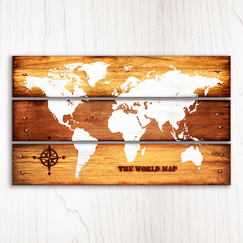 Puzzle Canvas Set (984 pieces) - Vintage Style World Map