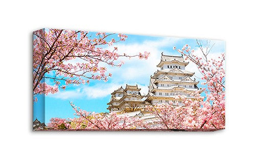 Puzzle Canvas (120 pieces) - Season of Cherry Blossoms - Himeji Castle, Japan