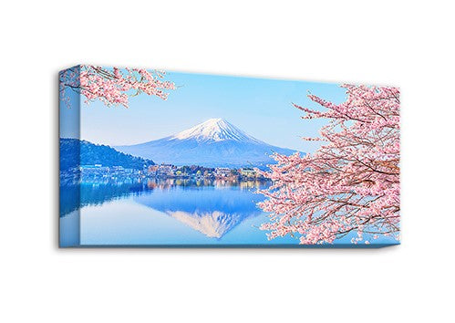 Puzzle Canvas (120 pieces) - Season of Cherry Blossoms - Mt. Fuji, Japan