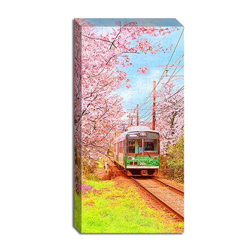 Puzzle Canvas (120 pieces) - Season of Cherry Blossoms - Japan Railway