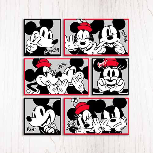 Puzzle Canvas Set (480 pieces) - Mickey & Minnie