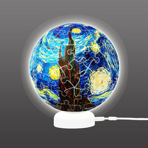 J1013 Pintoo Puzzle Sphere Light - Starry Night 1889