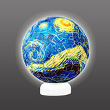 Puzzle Sphere Light - Vincent van Gogh - The Starry Night, June 1889