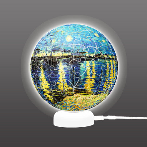 Puzzle Sphere Light - Vincent van Gogh - Starry Night Over the Rhone, 1888