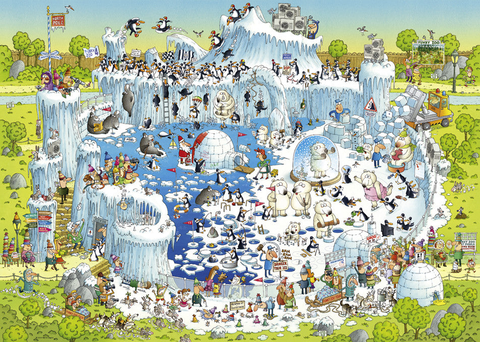 Jigsaw Puzzle 1000 pieces: Polar Habitat
