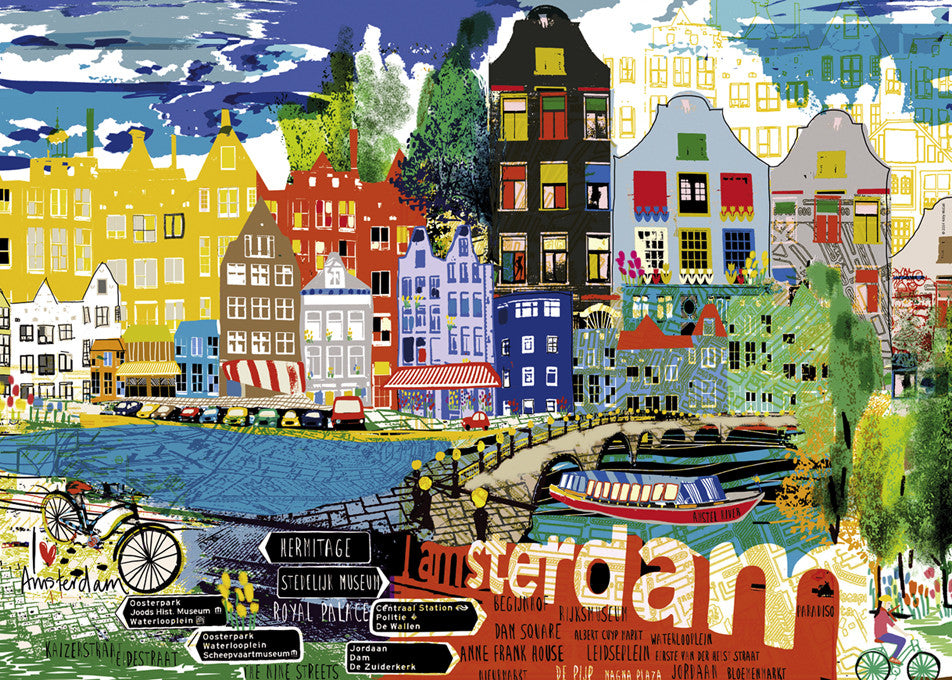 Jigsaw Puzzle 1000 pieces: I Love Amsterdam