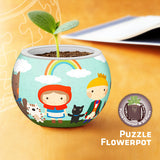 Puzzle Flowerpot - Happy With My Friends