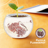 Puzzle Flowerpot - Singing Birds and Flowers