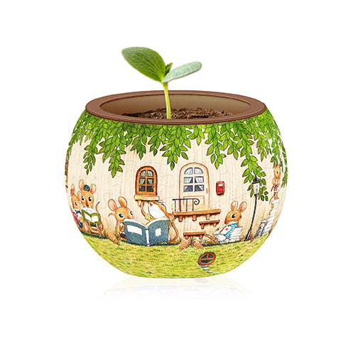 K1023 Pintoo Happy Reading Flowerpot Jigsaw Puzzle