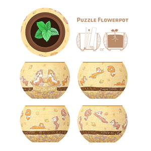 K1025 Pintoo Chip & Dale Flowerpot Jigsaw Puzzle