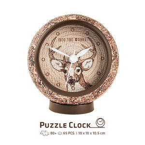 Puzzle Clock (145 pieces) - Into The Woods