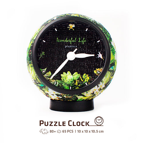 Puzzle Clock (145 pieces) - plantica - Elegant Notation