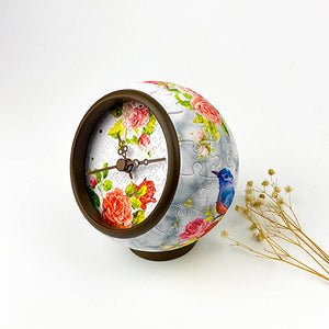 Puzzle Clock (145 pieces) - Fragrant Flowers and Singing Birds