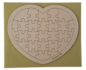 Peach Heart Puzzle Card