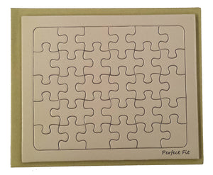 Peach Rectangle Puzzle Card