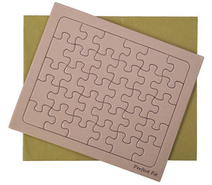 Pink Rectangle Puzzle Card