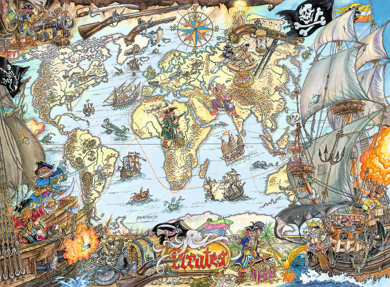 200 XXL pieces - Pirate Map