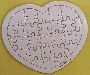 Purple Heart Puzzle Card