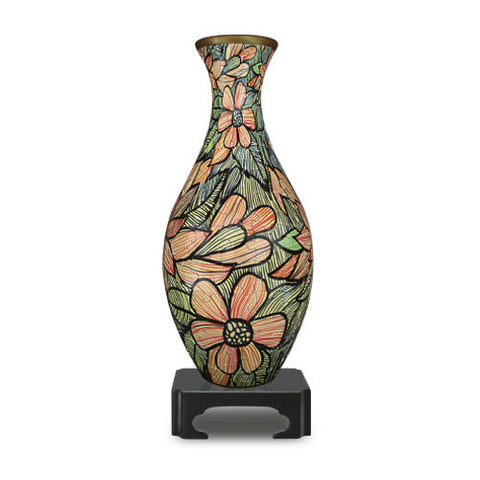 Jigsaw Puzzle Vase (3D) Beautiful Seamless Flowers