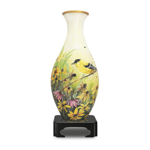 3D Jigsaw Puzzle Vase_Goldfinches