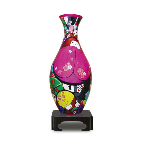 Jigsaw Puzzle Vase (3D) Japanese Doll