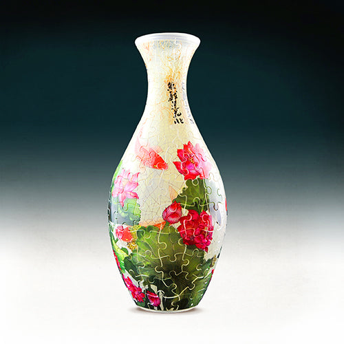 Puzzle Vase (160 pieces) - Carp with Lotus