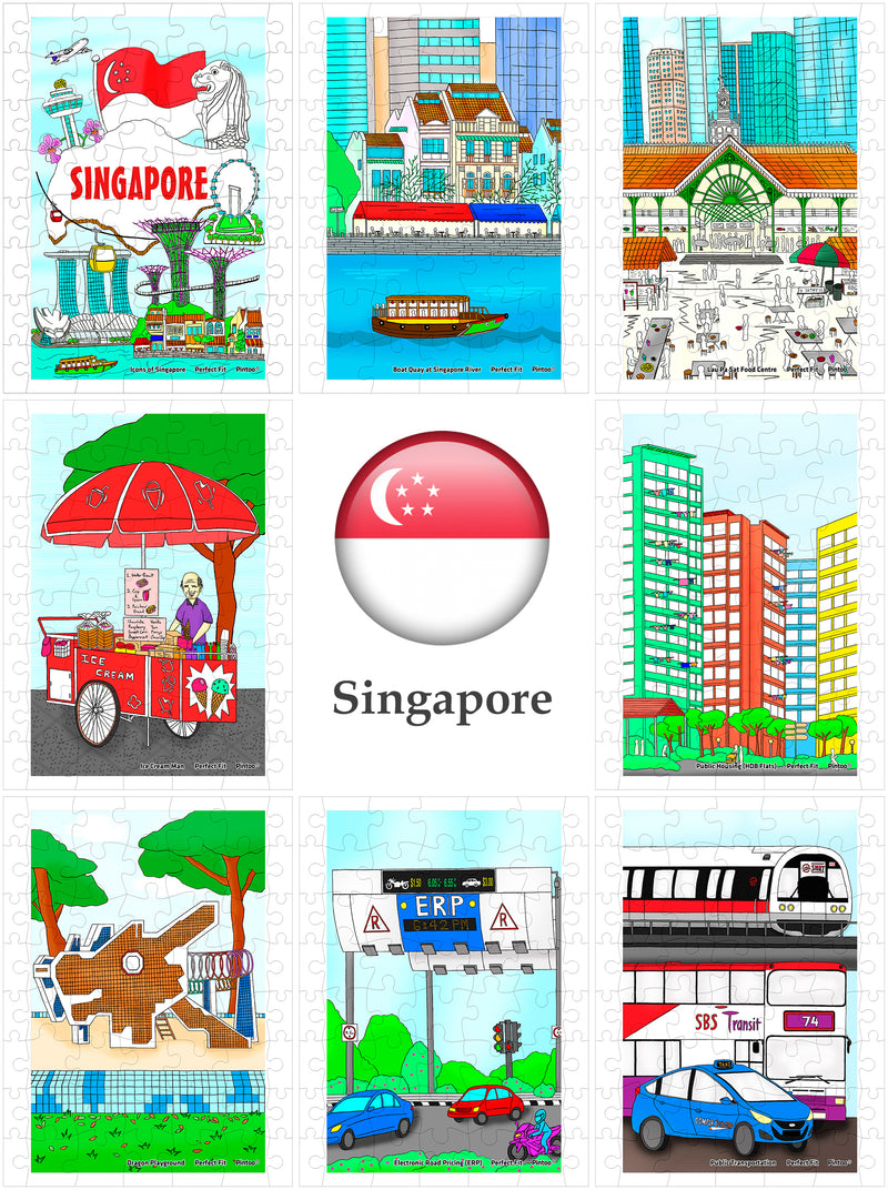 Singapore Puzzle, Tyro 40 pieces x 8 Jigsaw Puzzle