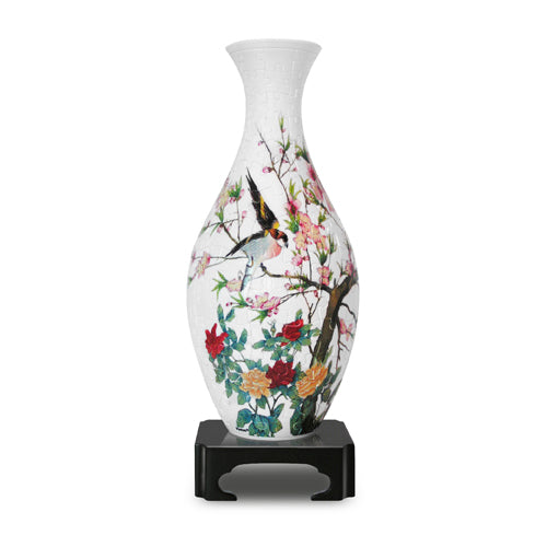 Singing Birds and Fragrant Flowers Puzzle Vase