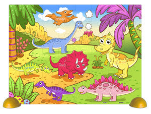 The Cheerful Dinosaurs 48 pieces Jigsaw Puzzle
