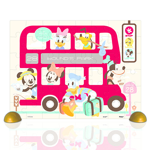 Junior 48 pieces - Mickey Mouse Family - Happy Bus