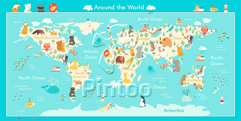 Junior 128 pieces - Around The World